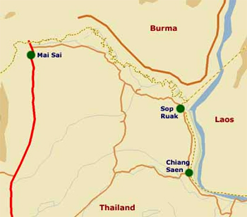 Thailand Golden Triangle Map Location